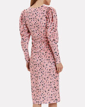 Sigrid Floral Velvet Dress, BLUSH, hi-res