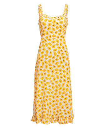 Noemie Floral Midi Dress, YELLOW FLORAL, hi-res