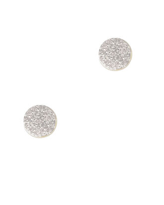 Pavé Diamond Studs, GOLD, hi-res