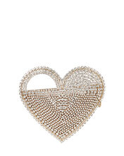 Regina Crystal Heart Clutch, GOLD, hi-res