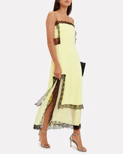 Square Cut-Out Slip Dress, YELLOW, hi-res