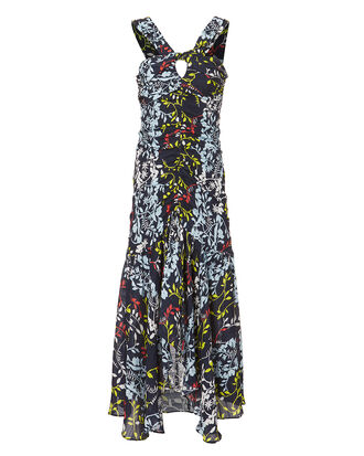 Sancia Floral Dress, NAVY, hi-res
