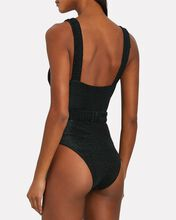 Oaklee Belted One-Piece Swimsuit, BLACK, hi-res