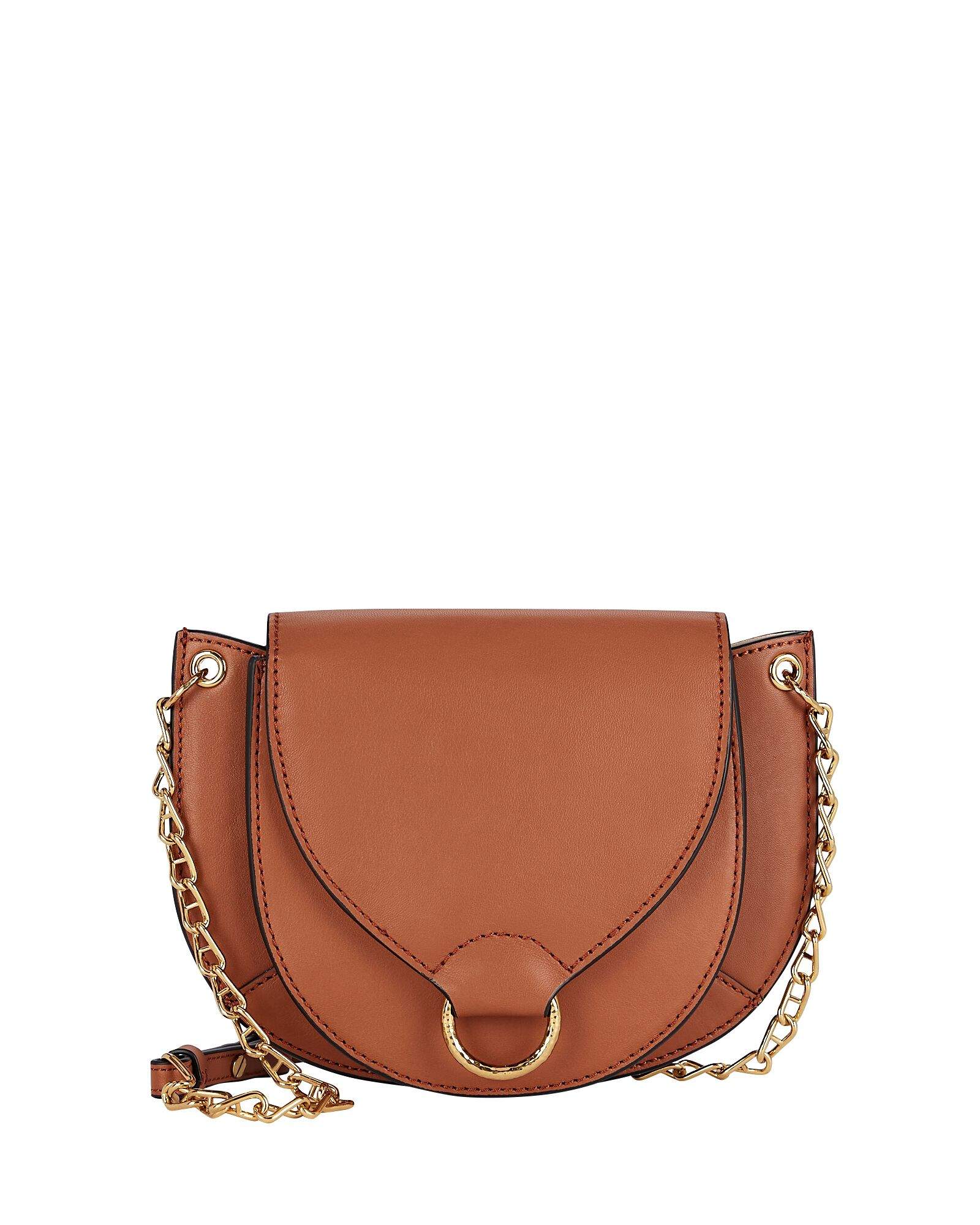 Esme Leather Crossbody Bag, BROWN, hi-res