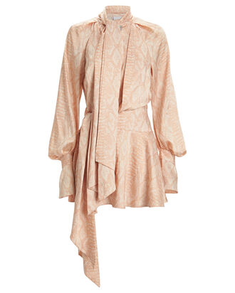 Bradley Cobra Crepe Dress, BLUSH/PYTHON, hi-res