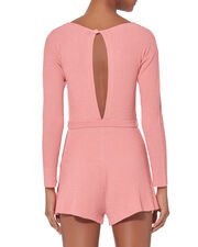 Datong Open Back Knit Romper, PINK, hi-res