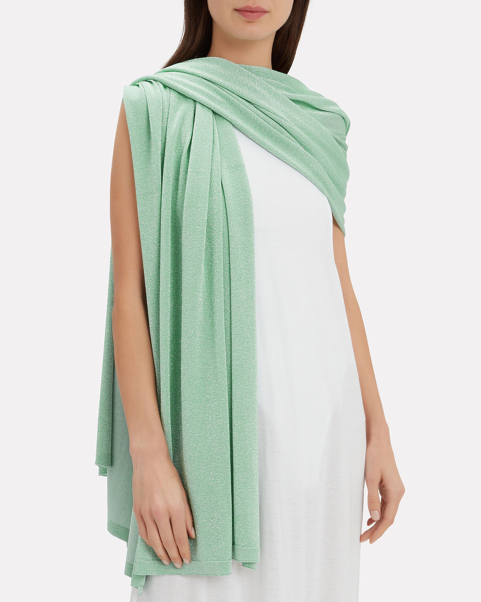 Seafoam Green Lurex Wrap, SEAFOAM GREEN, hi-res