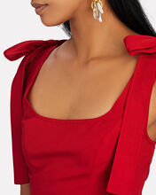 Rogan Tie-Shoulder Crop Top, RED, hi-res