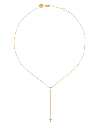 Ava Mini Lariat Necklace, GOLD, hi-res