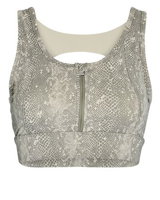 Fay Zip-Front Sports Bra, OLIVE/ARMY, hi-res