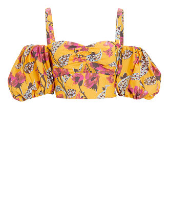 Melody Cold-Shoulder Crop Top, YELLOW, hi-res