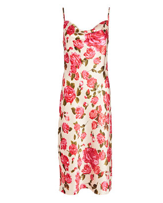 Nyla Silk Floral Slip Dress, IVORY/PINK, hi-res
