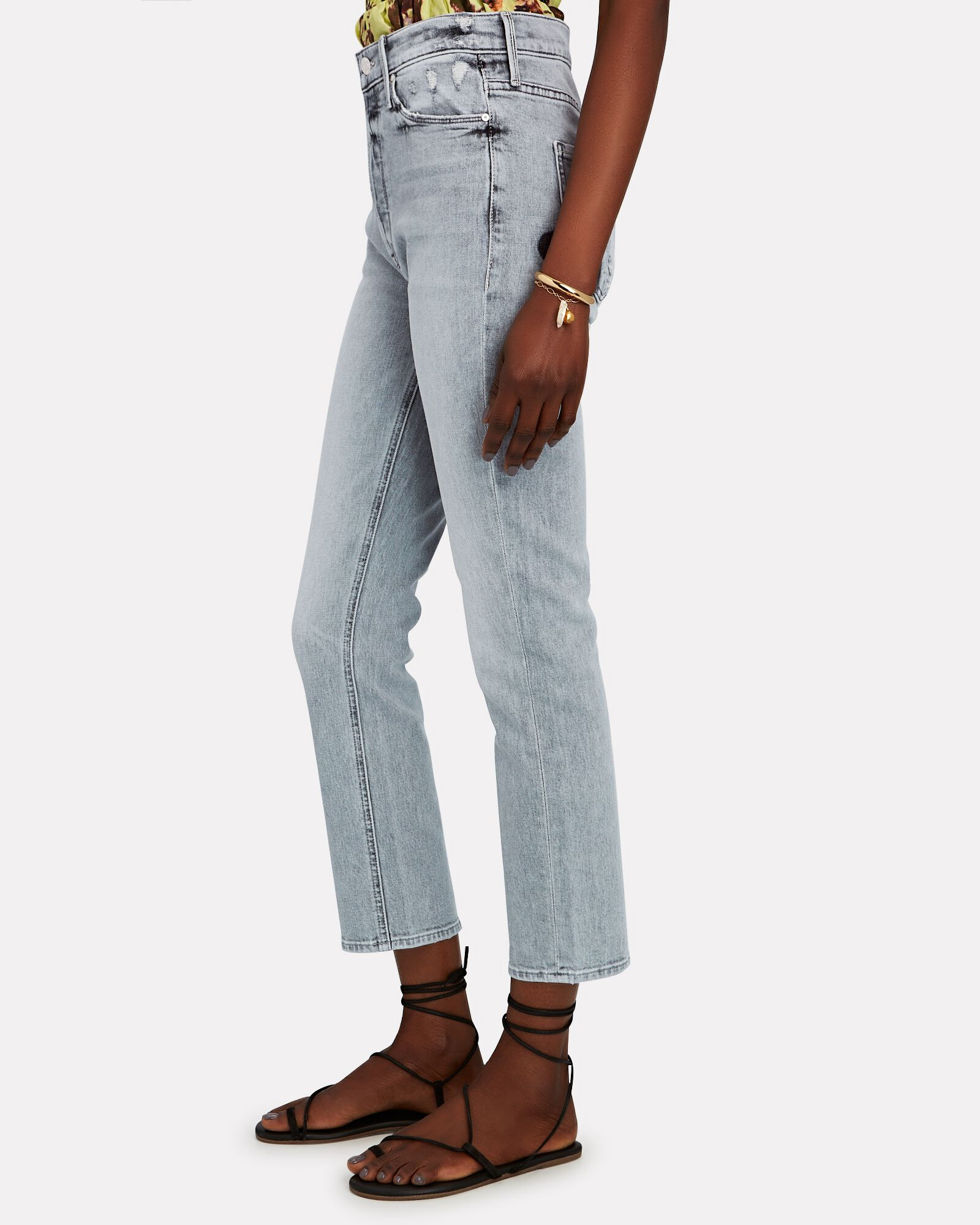 The Dazzler Straight-Leg Ankle Jeans, SHADOWS IN THE GRASS, hi-res