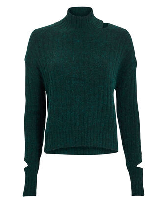 Corax Green Sweater, GREEN, hi-res