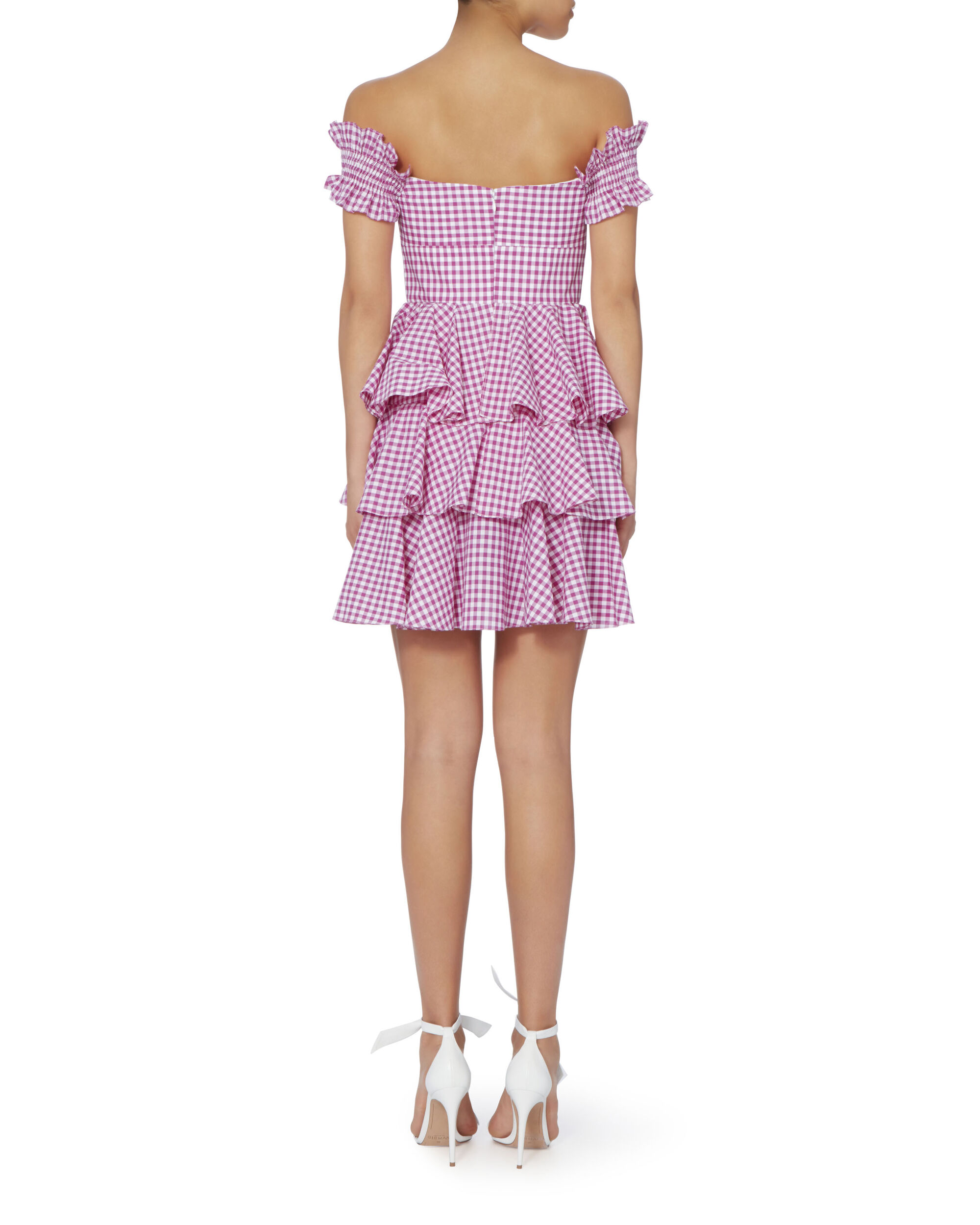 Helena Bow Front Gingham Dress, PATTERN, hi-res
