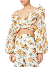 Golden Surfer Cropped Bodice Top, YELLOW, hi-res