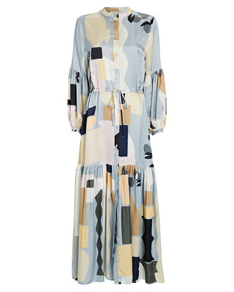 Emmanuel Geo Printed Maxi Dress, BLUE GEO PRINT, hi-res