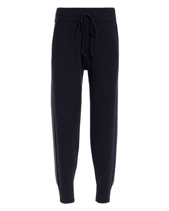 Lurex Jogger Navy Sweatpants, NAVY, hi-res