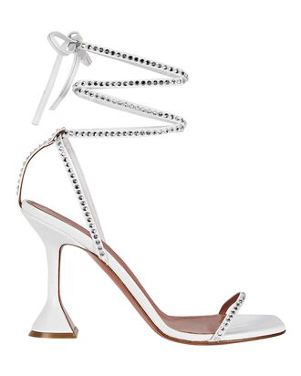 Vita Leather Wrap Sandals, WHITE, hi-res