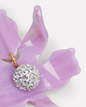 Crystal Lily Small Earrings, PURPLE-LT, hi-res