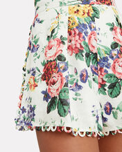 Allia Floral Linen Shorts, MULTI, hi-res