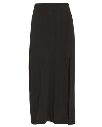 Knit Midi Skirt, BLACK, hi-res