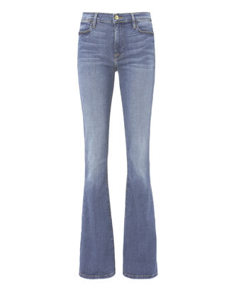 Le High Flare Blue Jeans, DENIM, hi-res
