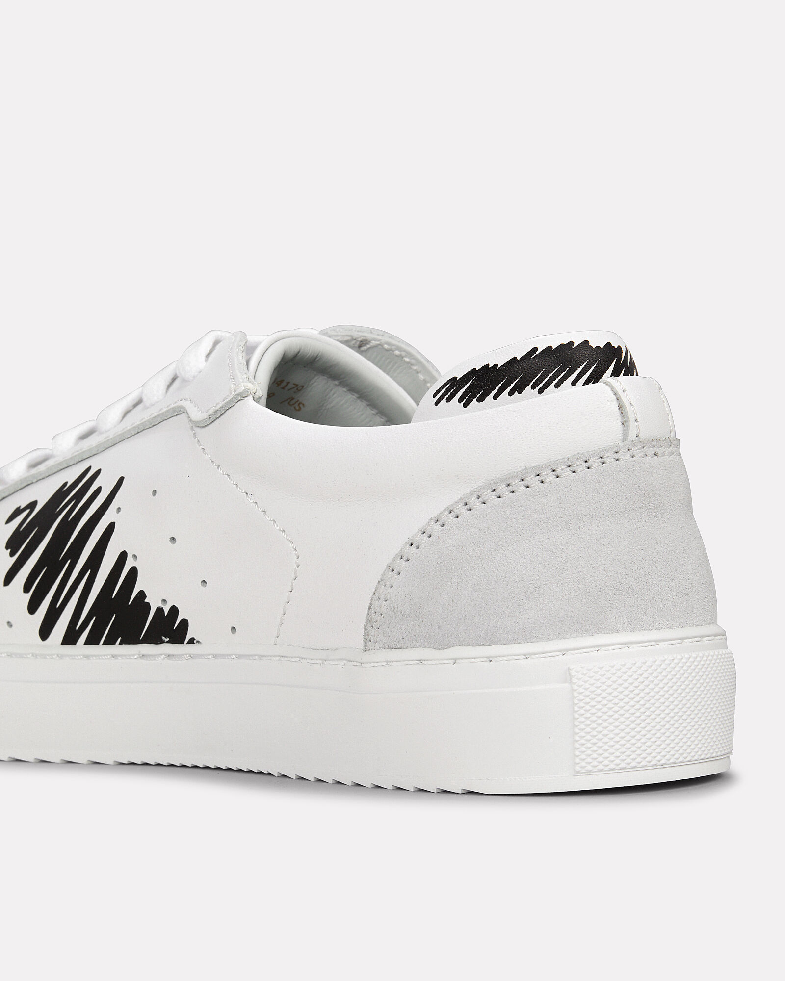 Dunk Scribble Leather Sneakers, WHITE/BLACK, hi-res