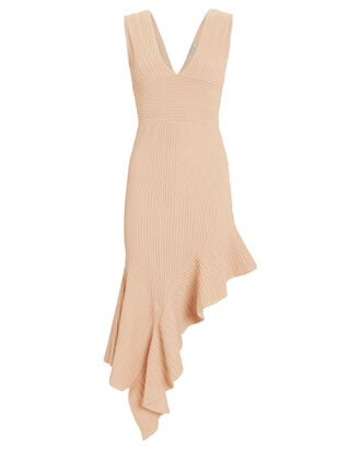 Jennifer Asymmetric Knit Dress, BLUSH, hi-res