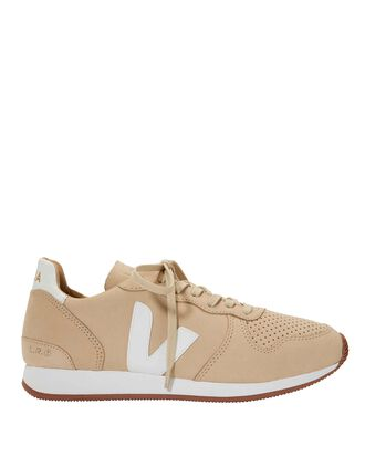 Bastille Suede Low-Top Sneakers, BEIGE, hi-res