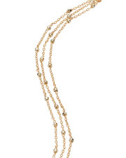 Three Layer Chain Bracelet, GOLD, hi-res