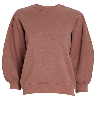 Thora Cotton Crewneck Sweatshirt, MAUVE, hi-res