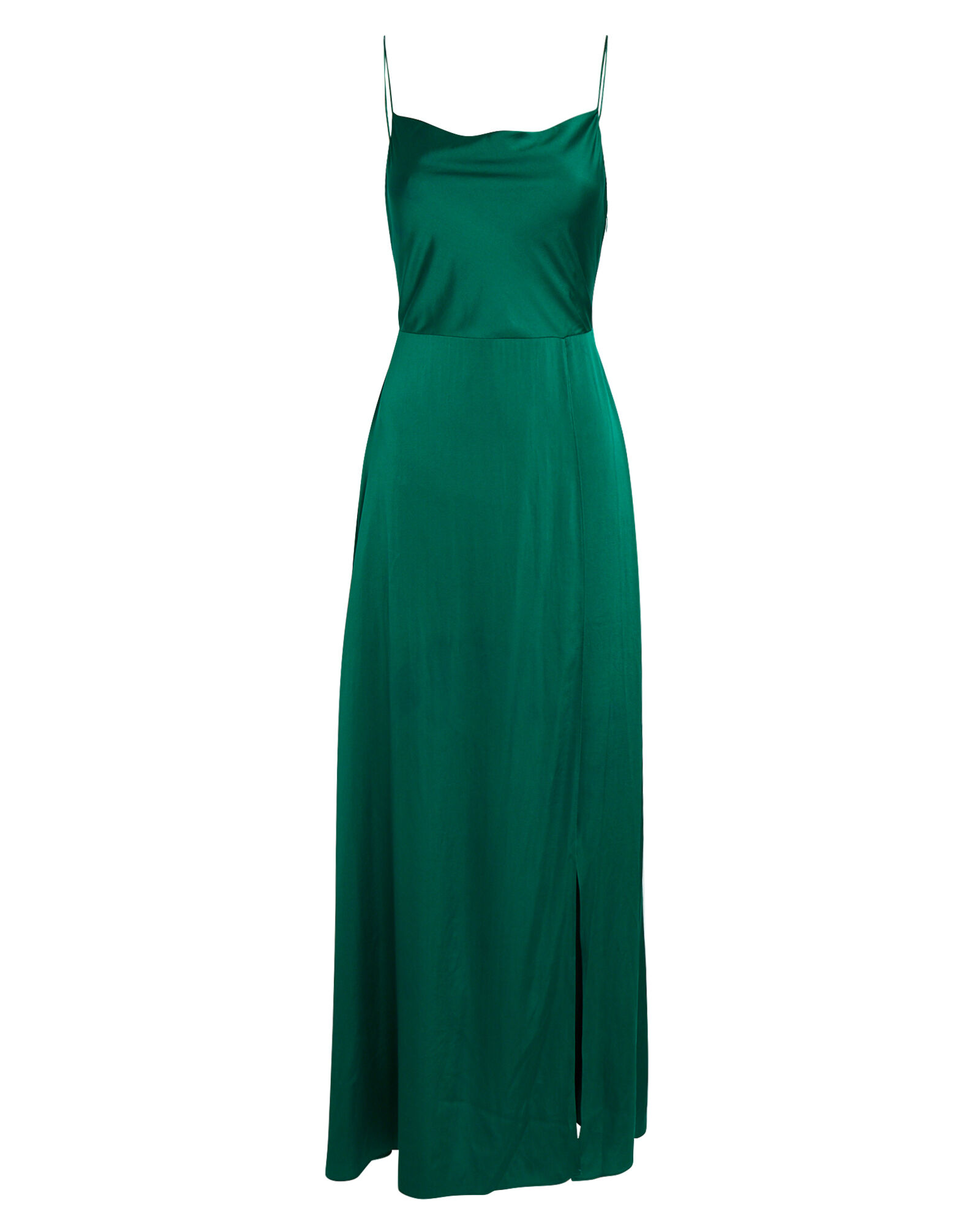 Taylor Silk Georgette Maxi Dress, GREEN, hi-res