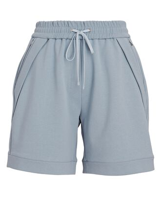 French Terry Sweat Shorts, LIGHT BLUE, hi-res