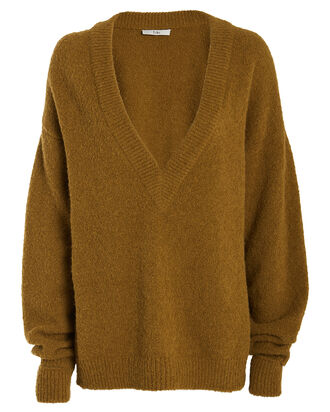Airy Alpaca V-Neck Sweater, COPPER, hi-res