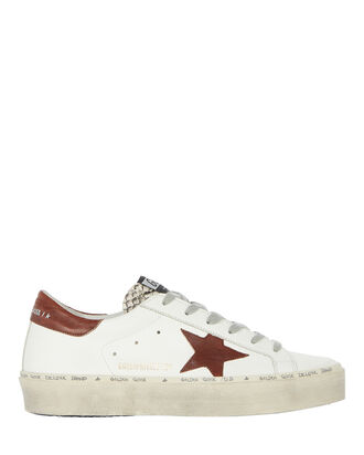 Hi Star Low-Top Leather Sneakers, WHITE, hi-res