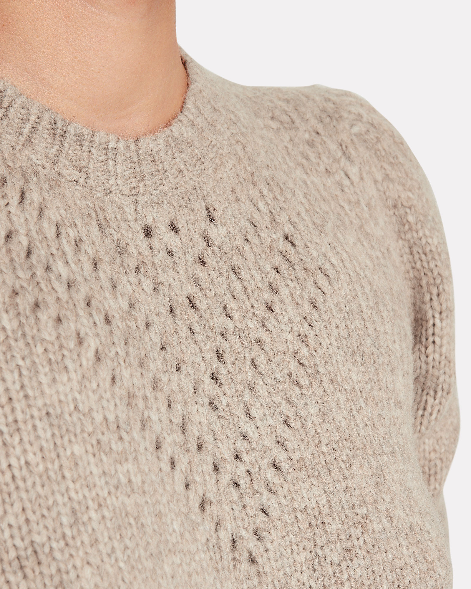 Veronique Alpaca-Wool Sweater, BROWN, hi-res