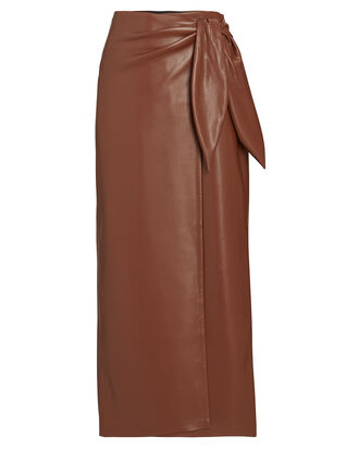Amas Wrap Vegan Wrap Skirt, BROWN, hi-res