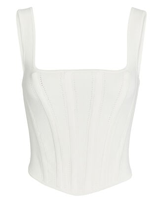 Pointelle Ribbed Jersey Corset, , hi-res