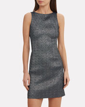 Metallic Mini Dress, BLACK, hi-res