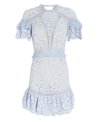 Julep Lace Mini Dress, PALE BLUE, hi-res