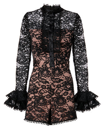 Alive Lace Romper, BLACK, hi-res