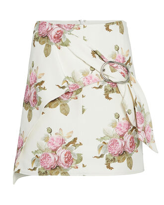 Floral Mini Skirt, IVORY/FLORAL, hi-res