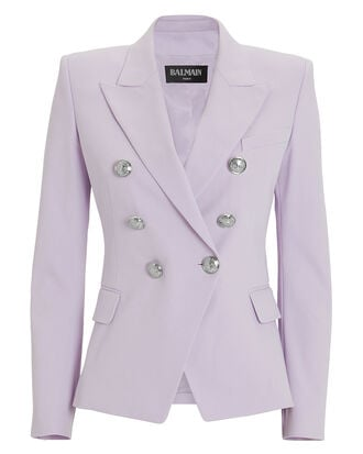 Lilac Classic Double-Breasted Blazer, LILAC, hi-res