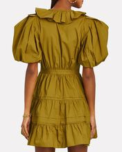 Maude Ruffled Cotton Poplin Dress, BEIGE, hi-res