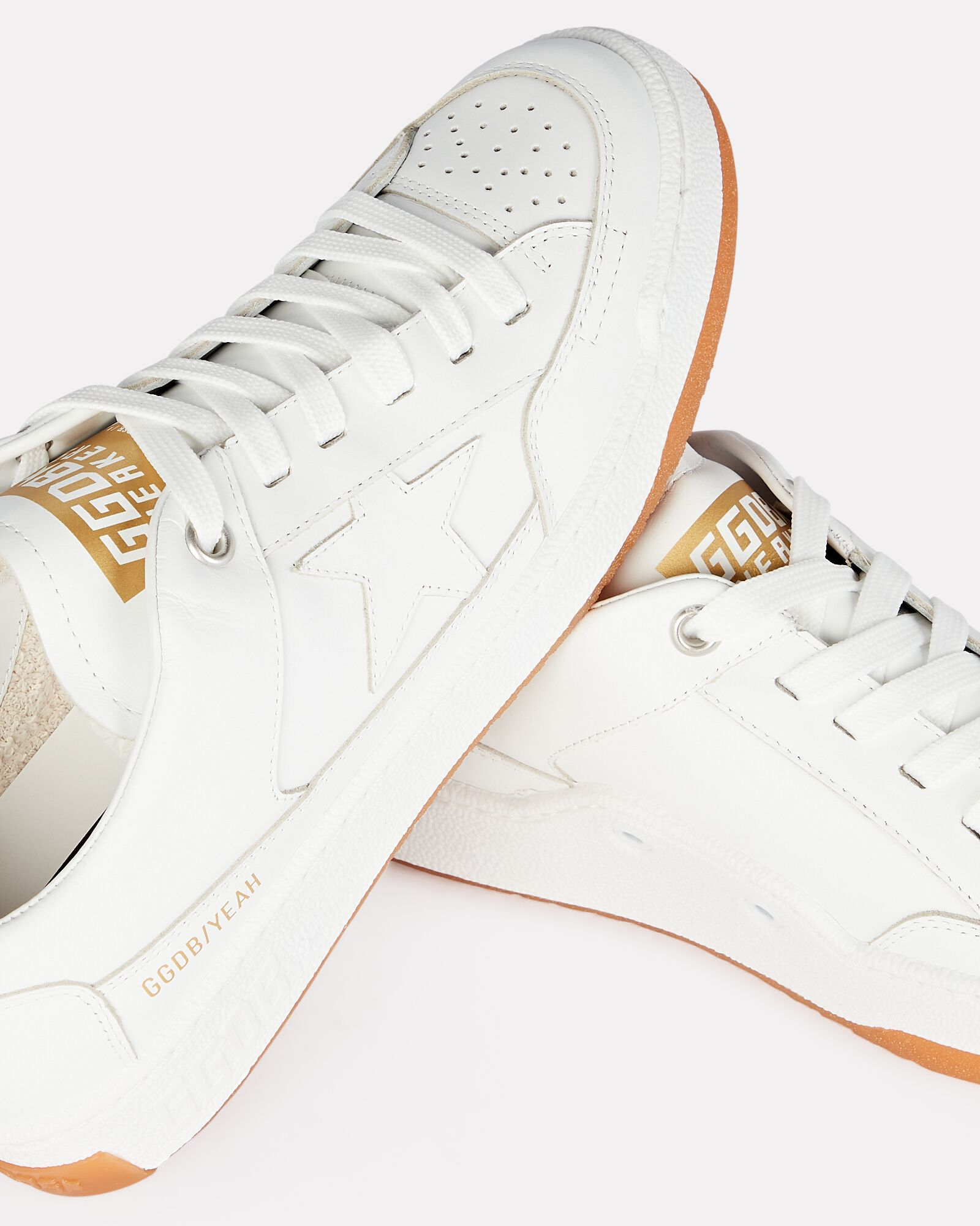 Yeah Leather Low-Top Sneakers, WHITE, hi-res