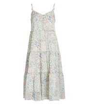 Tiered Floral Chiffon Dress, MULTI, hi-res