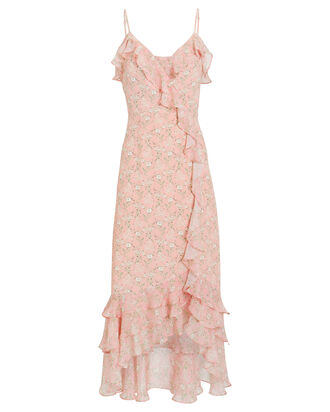 Niki Floral Wrap Dress, PINK/FLORAL, hi-res