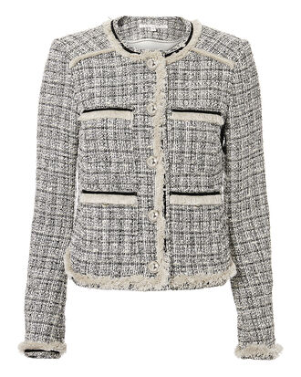 Eclipse Metallic Tweed Jacket, BLACK/WHITE, hi-res