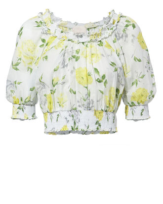 Heidi Off Shoulder Floral Top, MULTI, hi-res